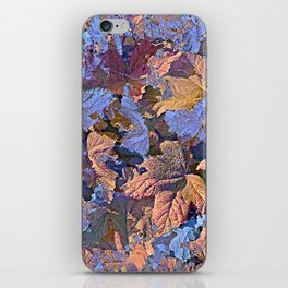 MAGIC THIMBLEBERRY ORANGE AND BLUE iPhone Skin
