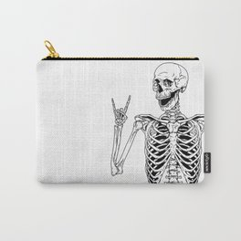 Rock and Roll Skeleton Carry-All Pouch