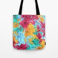 splash Tote Bags featuring Splash! by Eleaxart