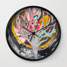 Tree of life and death Wall Clock