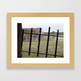 Behind Iron Gate in Fort Pickens Framed Art Print