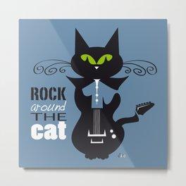 Rock Around the Cat Metal Print