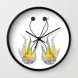 Fire poi geometric Wall Clock