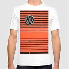 Red Volkswagen Mens Fitted Tee White MEDIUM