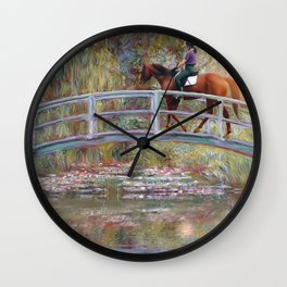 Riding with Monet Wall Clock