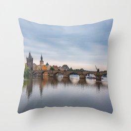 Charles Bridge, Prague, Czech Republic Throw Pillow