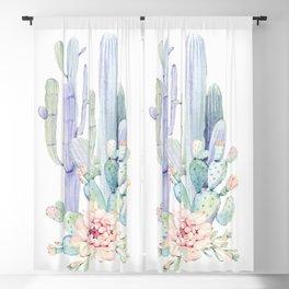 Mixed Cacti 2 #society6 #buyart Blackout Curtain