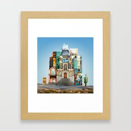 This Way For Awesome :: Fine Art Collage Framed Art Print