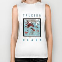 talking heads Biker Tanks featuring Talking Heads Limited Edition Music Poster Print by Nick Howland