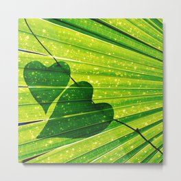 Lush Forest Hearts Metal Print