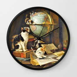 Henriette Ronner-Knip - World Traveler - Digital Remastered Edition Wall Clock