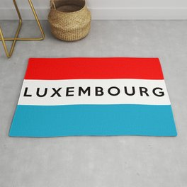luxembourg country flag name text Rug