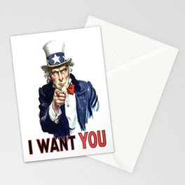 Uncle Sam I Want You Stationery Cards