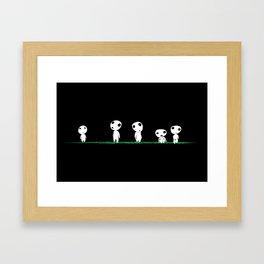 PRINCESS MONONOKE - KODAMA Framed Art Print