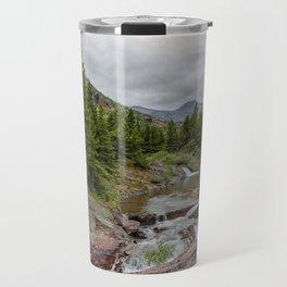 Upper Redrock Falls - Glacier NP Travel Mug