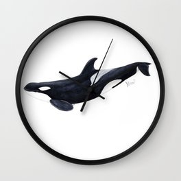 Orca killer whale Wall Clock