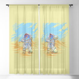 Adventure Goes Wrong Sheer Curtain