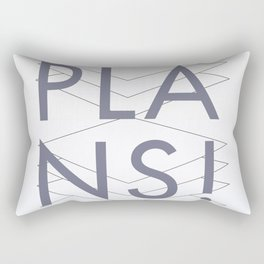 No plans. By Angelica Ramos Rectangular Pillow