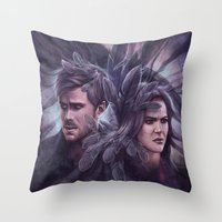 destiny Throw Pillows featuring Destiny by Svenja Gosen