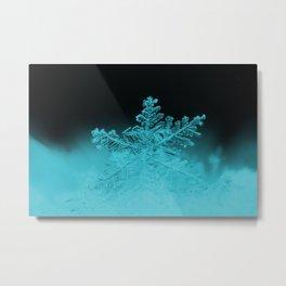 Cold blue - Snowflake Metal Print
