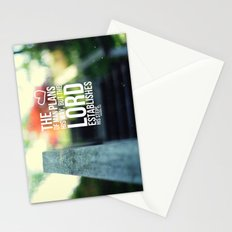 The Lord establishes his steps  Stationery Cards
