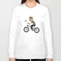 cycling Long Sleeve T-shirts featuring Mr.Bongo Cycling by Gunawan Lo