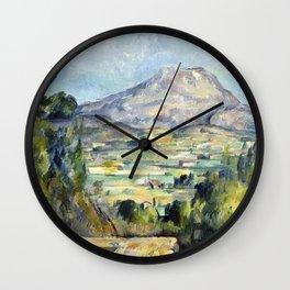 1890 - Paul Cezanne - Montagne Saint-Victoire Wall Clock