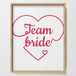 Team Bride - Bachelorette Hen Bridal Party Alcohol Serving Tray