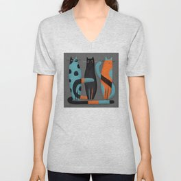BOWLING PINS Unisex V-Neck
