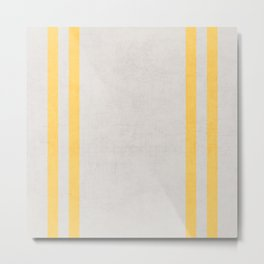 french linen - yellow Metal Print