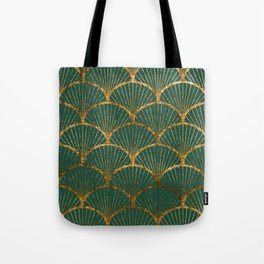 Emeral gold petal pattern Tote Bag