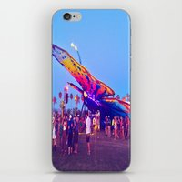 coachella iPhone & iPod Skins featuring coachella butterfly by katelyndee