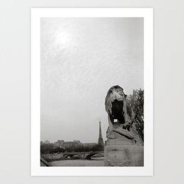 Paris Lion Art Print