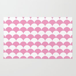 Light Pink Clamshell Pattern Rug