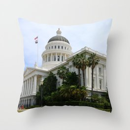 California State Capitol Throw Pillow