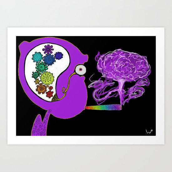 blaze the rainbow Art Print