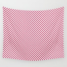 Rose Red Polka Dots Wall Tapestry