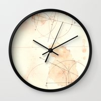 math Wall Clocks featuring math by theoreticalsociety6
