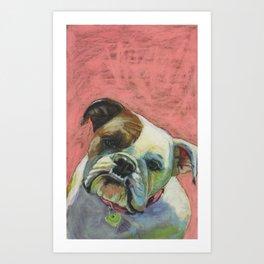 Bulldog! Art Print