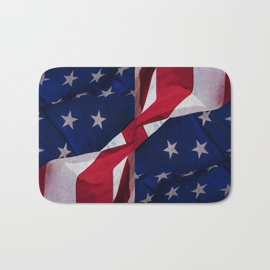 RED, WHITE AND BLUE Bath Mat