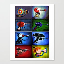Horror Movie Monster Inspired Ray Gun Combo Canvas Print
