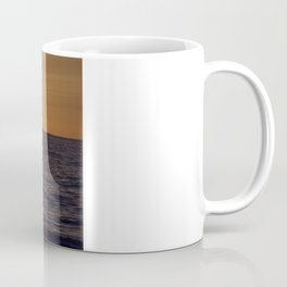 Summersunset with Boat - Warnemuende - Baltic Sea Coffee Mug