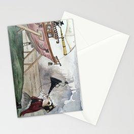 Ginger Small Surveys Rain Damage Stationery Cards