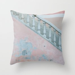 Pink wall of Capri, Italy | Abstract photography of a wall on the island | Travel photography fine art print Throw Pillow