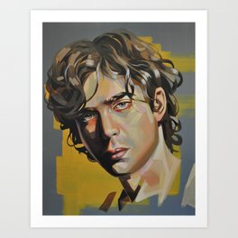 """""""Green eyes on a yellow background"""" Art Print"""
