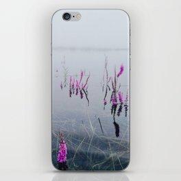 Wet flowers iPhone Skin