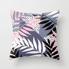 Palms on Polka Dots Throw Pillow