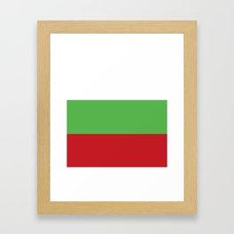 Bulgaria flag emblem Framed Art Print