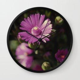 Purple petals Wall Clock