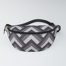 Mid Century Modern Triangles (Charcoal) Fanny Pack